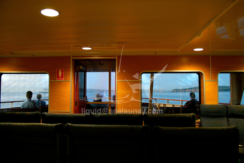 Travelling on a Sydney Ferry in the Sydney Harbour, from Manly to the City.