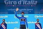 Filippo Ganna (ITA) Ineos Grenadiers retains the mountains Maglia Azzurra at the end of Stage 8 of the 103rd edition of the Giro d'Italia 2020 running 200km from Giovinazzo to Vieste, Sicily, Italy. 10th October 2020.  <br /> Picture: LaPresse/Massimo Paolone | Cyclefile<br /> <br /> All photos usage must carry mandatory copyright credit (© Cyclefile | LaPresse/Massimo Paolone)