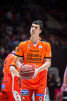 VALENCIA, SPAIN - OCTOBER 31: Lucic during ENDESA LEAGUE match between Valencia Basket Club and Rio Natura Monbus Obradoiro at Fonteta Stadium on   October 31, 2015 in Valencia, Spain