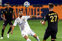 CARSON, CA - SEPTEMBER 06: Sebastian Lletget #17 of the Los Angeles Galaxy moves to the ball during a game between Los Angeles FC and Los Angeles Galaxy at Dignity Health Sports Park on September 06, 2020 in Carson, California.