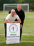 26.08.2019 Hillwood Community Trust football pitches: Ian Durrant and Tommy Coyne