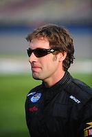 Feb 21, 2009; Fontana, CA, USA; NASCAR Nationwide Series driver Scott Lagasse Jr prior to the Stater Brothers 300 at Auto Club Speedway. Mandatory Credit: Mark J. Rebilas-