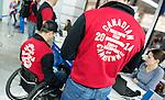 Sochi 2014.<br /> Team Canada arrives at the airport in Sochi for the Sochi 2014 Paralympic Winter // Équipe Canada arrive à l'aéroport de Sotchi pour Sochi 2014 Jeux paralympiques d'hiver. 02/03/2014.