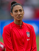 CARSON, CA - FEBRUARY 9: Christen Press #20 of the United States during a game between Canada and USWNT at Dignity Health Sports Park on February 9, 2020 in Carson, California.
