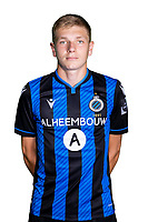 20th August 2020, Brugge, Belgium;  Mathis Servais pictured during the team photo shoot of Club Brugge NXT prior the Proximus league football season 2020 - 2021 at the Belfius Base camp