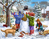 Liz,USHC, Christmas Santa, Snowman, Weihnachtsmänner, Schneemänner, Papá Noel, muñecos de nieve,children,snowman, paintings+++++,USHCLD0261,#x#