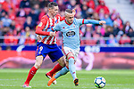 Stanislav Lobotka of RC Celta de Vigo (R) fights for the ball with Fernando Torres of Atletico de Madrid (L) during the La Liga 2017-18 match between Atletico de Madrid and RC Celta de Vigo at Wanda Metropolitano on March 11 2018 in Madrid, Spain. Photo by Diego Souto / Power Sport Images