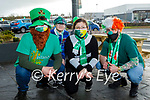 The staff at the Applegreen Food Court in Monor all decked out for their St Patricks Day virtual parade on Saturday. L to r: Alex Biriuc, Christine Karpova, Gabby Florea and Hayden Fitzgerald.
