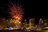 Charlotte Skyline Fourth of July Fireworks