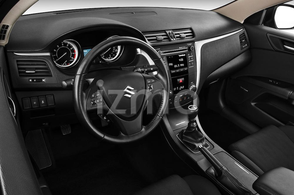 High angle dashboard view of a 2010 Suzuki Kizashi SLS