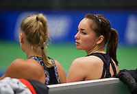 Rotterdam, Netherlands, December 17, 2015,  Topsport Centrum, Lotto NK Tennis, Ladys doubles: Nicole Thijssen  (R) and Dewi Dijkman (NED)<br /> Photo: Tennisimages/Henk Koster