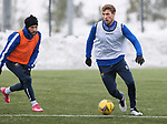 St Johnstone Training…. 15.01.21<br />David Wotherspoon and Stevie May pictured during training at McDiarmid Park ahead of tomorrows game against St Mirren<br />Picture by Graeme Hart.<br />Copyright Perthshire Picture Agency<br />Tel: 01738 623350  Mobile: 07990 594431