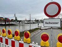 03.02.2021: Hochwasser am Hafen Gernsheim