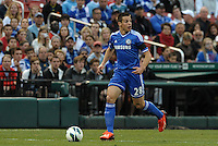 Cesar Azipilicueta (28) Chelsea in action..Manchester City defeated Chelsea 4-3 in an international friendly at Busch Stadium, St Louis, Missouri.