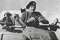 BNPS.co.uk (01202 558833)<br /> Pic: TheTankMuseum/BNPS<br /> <br /> Pictured: Field Marshal Bernard Montgomery during the North African campaign.<br /> <br /> A fascinating letter by Field Marshal Bernard Montgomery expressing how he 'thoroughly enjoyed' facing the Desert Fox in battle has emerged 79 years on.<br /> <br /> The British army commander was pitted against the redoubtable Erwin Rommel during the North African desert campaign of 1942.<br /> <br /> The hand-written two page letter, dated October 6, 1942, was penned to his brother Harold while he was preparing for the decisive Battle of El Alamein, which turned the tide in World War Two.