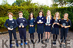 Ray Moriarty, Mark O'Connor, Abby Slattery, Rebecca Naughton, Bláthnaid Walsh, Isabella Teehan and Eve Broderick students from Spa NS received a plaque from the Education Centre in Tralee as they made it to the final of the debating competition, but was cancelled due to Covid.