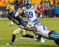Pitt wide receiver V'Lique Carter. The Pitt Panthers football team defeated the Duke Blue Devils 54-45 on November 10, 2018 at Heinz Field, Pittsburgh, Pennsylvania.