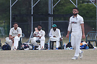 Ilford players look on during Frenford CC vs Ilford CC (batting), Essex Cricket League Cricket at the Jack Carter Centre on 1st August 2020