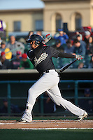 Dawel Lugo (10) of the Visalia Rawhide bats against the Lancaster JetHawks at The Hanger on May 7, 2016 in Lancaster, California. Lancaster defeated Visalia, 19-5. (Larry Goren/Four Seam Images)
