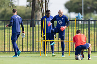 FRISCO, TX - JULY 20: Brad Guzan Field Activation during a training session at Toyota Soccer Center FC Dallas on July 20, 2021 in Frisco, Texas.