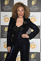 Ria Hebden<br /> arriving for the RTS Awards 2019 at the Grosvenor House Hotel, London<br /> <br /> ©Ash Knotek  D3489  19/03/2019