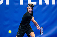 Amstelveen, Netherlands, 14  December, 2020, National Tennis Center, NTC, NK Indoor, National  Indoor Tennis Championships, Qualifying: Jesse de Jager (NED)  <br /> Photo: Henk Koster/tennisimages.com