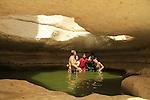 Zarhan waterhole in the Negev