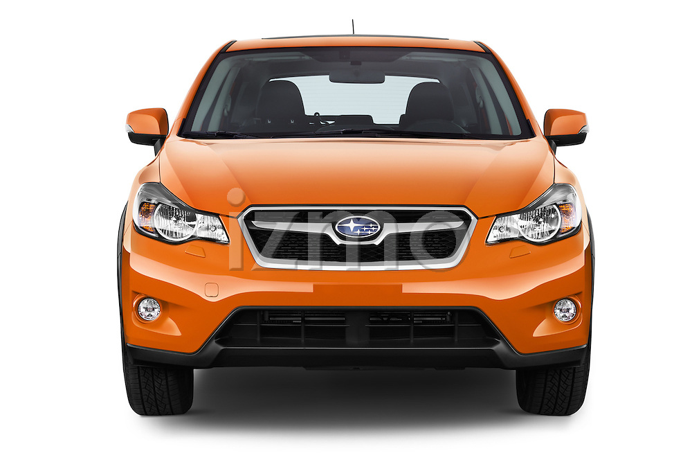 Car photography straight front view of a 2015 Subaru XV-Crosstrek Premium 5 Door SUV Front View