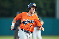 Brendan Venter (8) of the Auburn Tigers hustles towards third base against the Army Black Knights at Doak Field at Dail Park on June 2, 2018 in Raleigh, North Carolina. The Tigers defeated the Black Knights 12-1. (Brian Westerholt/Four Seam Images)