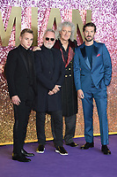"""Ben Hardy, Roger Taylor, Brian May and Gwilyn Lee<br /> arriving for the """"Bohemian Rhapsody"""" World premiere at Wembley Arena, London<br /> <br /> ©Ash Knotek  D3455  23/10/2018"""