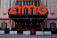 NEW YORK, NEW YORK - MARCH 05: General view of AMC Cinema in Times Square on March 05, 2021, in New York. NY Governor, Andrew Cuomo gave the permission to reopen cinemas on Feb. 22 at 25% capacity, or a maximum of 50 people per show. (Photo by John Smith/VIEWpress)