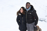 "ALICE BELAIDI ET AHMED SYLLA AU PHOTOCALL DU FILM ""L'ASCENSION"" - 20EME FESTIVAL INTERNATIONAL DU FILM DE COMEDIE DE L'ALPE D'HUEZ 2017"