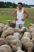 Europe/France/Rhône-Alpes/26/Drôme/Pont-de-Barret: Nicolas Charoin élève ses moutons et agneaux bio [Non destiné à un usage publicitaire - Not intended for an advertising use]