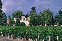 Europe/France/Aquitaine/33/Gironde/Env de Cussac: Château Beaumont (AOC Haut-Médoc) et ciel d'orage