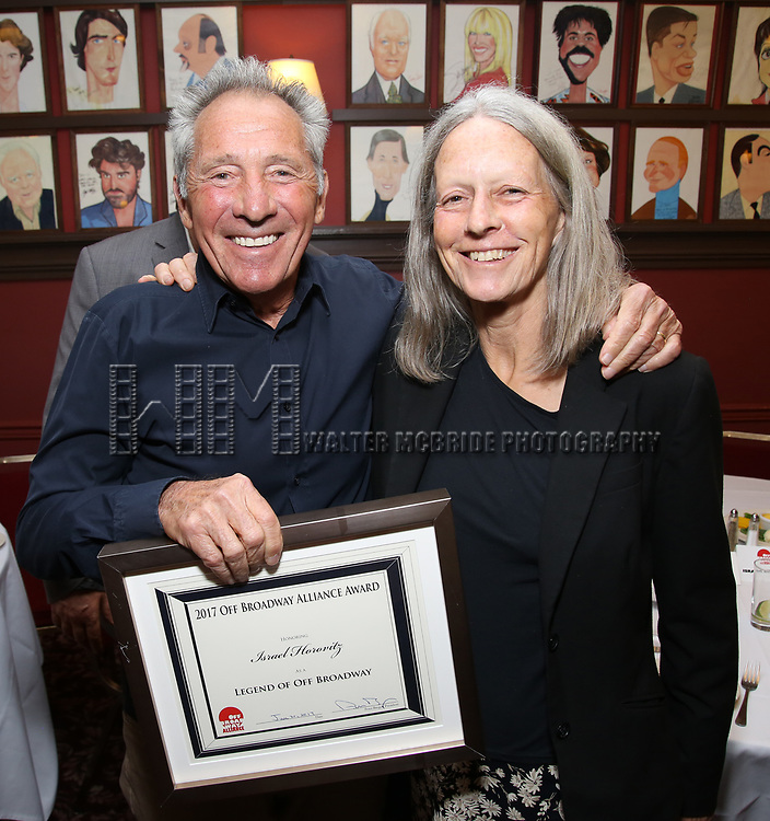 Israel Horovitz and Gillian Horovitz attends the 7th Annual Off Broadway Alliance Awards at Sardi's on June 20, 2017 in New York City.