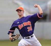 October 25, 2009: Will Lamb of the Clemson Tigers in an intra-squad Orange and Purple scrimmage game at the end of fall practice at Doug Kingsmore Stadium in Clemson, S.C. Photo by: Tom Priddy/Four Seam Images