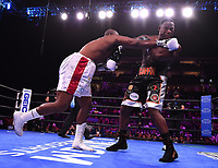 NEWARK, NJ - JULY 31: Michael Coffie (silver/black trunks) vs Jonathan Rice (white trunks) on the Fox Sports PBC Fight Night at Prudential Center on July 31, 2021 in Newark, New Jersey. (Photo by Frank Micelotta/Fox Sports/PictureGroup)