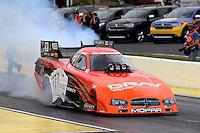May 11, 2013; Commerce, GA, USA: NHRA funny car driver Johnny Gray during the Southern Nationals at Atlanta Dragway. Mandatory Credit: Mark J. Rebilas-