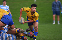 Action from the 1st XV traditional college rugby match between Rongotai College and St Pat's Silverstream at St Patrick's College in Wellington, New Zealand on Wednesday, 23 June 2021. Photo: Dave Lintott / lintottphoto.co.nz