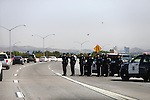 San Jose Police officers were among thousands of mourners lining the procession route to a memorial service for Carson City Sheriff's Deputy Carl Howell in Reno, Nev., on Thursday, Aug. 20, 2015. Howell was shot and killed early Saturday morning after responding to a domestic violence call. (Cathleen Allison/Las Vegas Review-Journal)