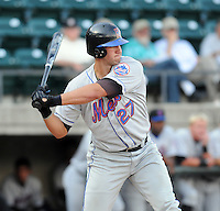 August 2, 2009: Infielder Jeff Flagg (27) of the Kingsport Mets, rookie Appalachian League affiliate of the New York Mets, in a game at Pioneer Park in Greeneville, Tenn. Photo by:  Tom Priddy/Four Seam Images