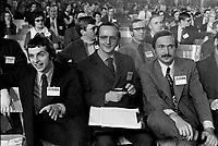 Congres du Parti Quebecois au Patro Roc-Amadour a Quebec , le 26 fevrier 1971 - Claude cHARRON<br /> <br /> <br /> Photographe : Jacques Thibault<br /> - Agence Quebec Presse
