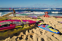 sailboards on beach. Hawaii, Maui.