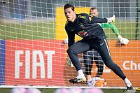 7th October 2020; Granja Comary, Teresopolis, Rio de Janeiro, Brazil; Qatar 2022 qualifiers; Ederson of Brazil during training session