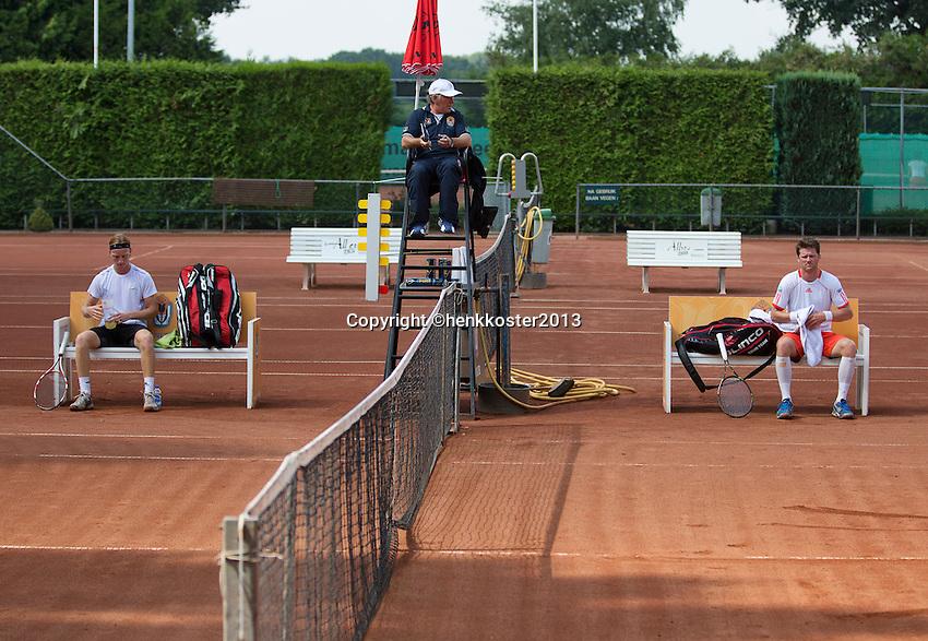 2013-08-17, Netherlands, Raalte,  TV Ramele, Tennis, NRTK 2013, National Ranking Tennis Champ, Nick van der Meer and David de Goede(L) <br /> <br /> Photo: Henk Koster