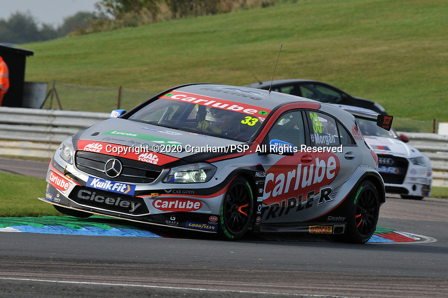 Round 5 of the 2020 British Touring Car Championship. #33 Adam Morgan. Carlube Tripler Racing with MAC Tools. Mercedes Benz A-Class.
