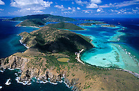 Eustatia Sound aerial<br /> Bitish Virgin Islands
