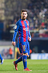 Lionel Andres Messi of FC Barcelona looks on during their La Liga match between Villarreal and FC Barcelona at the Estadio de la Cerámica on 08 January 2017 in Villarreal, Spain. Photo by Maria Jose Segovia Carmona / Power Sport Images