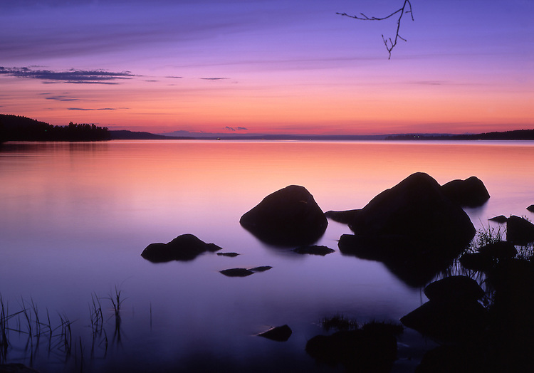 Europe, SWE, Sweden, Darlana, Leksand, Siljan lake, Rocks, Middsummernight, Twilight.....[ For each utilisation of my images my General Terms and Conditions are mandatory. Usage only against use message and proof. Download of my General Terms and Conditions under http://www.image-box.com or ask for sending. A clearance before usage is necessary...Material is subject to royalties. Each utilisation of my images is subject to a fee in accordance to the present valid MFM-List...Contact | archive@image-box.com | www.image-box.com ]