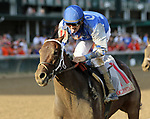 LOUISVILLE, KY - SEP 16: Patrona Margarita (Brian J. Hernandez Jr.) wins the 49th running of the G2 Pocahontas Stakes at Churchill Downs, Louisville, Kentucky. Owner Craig D. Upham, trainer W. Bret Calhoun. By Special Rate x Margarita Mistress (Naevus) (Photo by Mary M. Meek/Eclipse Sportswire/Getty Images)
